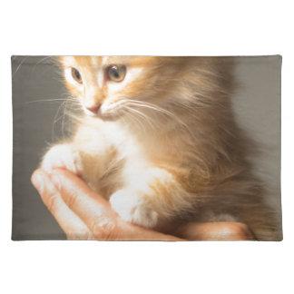 Sweet Kitten in good Hand Placemat
