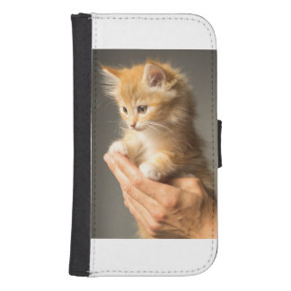 Sweet Kitten in Good Hand Samsung S4 Wallet Case