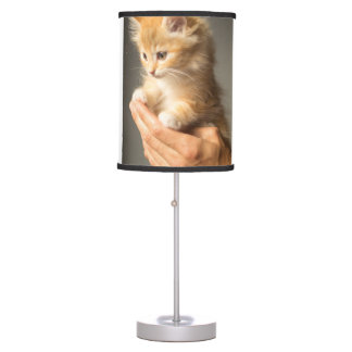 Sweet Kitten in Good Hand Table Lamp