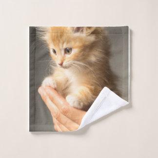 Sweet Kitten in Good Hand Wash Cloth