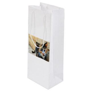 Sweet Kitten looking at YOU Wine Gift Bag