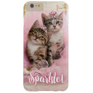 Sweet Kittens in Tiaras and Pink Sparkly Tutu Barely There iPhone 6 Plus Case