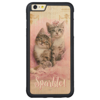 Sweet Kittens in Tiaras and Pink Sparkly Tutu Carved® Maple iPhone 6 Plus Bumper Case