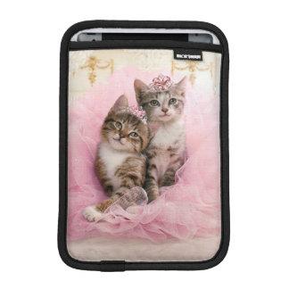 Sweet Kittens in Tiaras and Pink Sparkly Tutu iPad Mini Sleeve