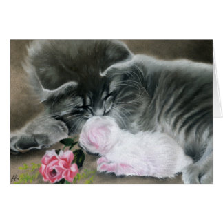 Sweet Kitties Cat Family pets Card