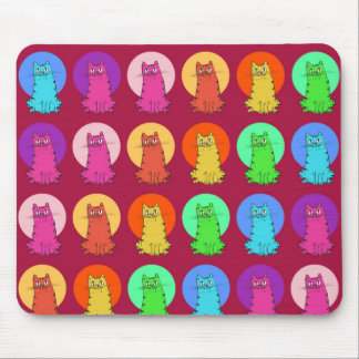 sweet kitties multiple color tint funny cartoon mouse pad