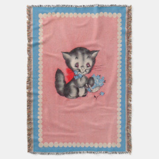 sweet kitty cat throw blanket
