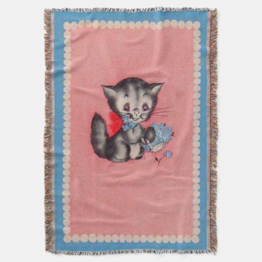 sweet kitty cat throw blanket