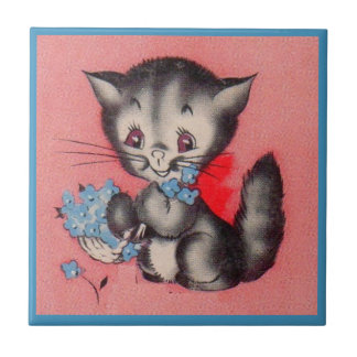 sweet kitty cat tile