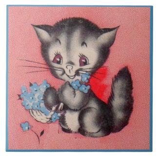 sweet kitty cat tile