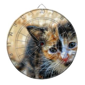Sweet Kitty looking at YOU Dartboard