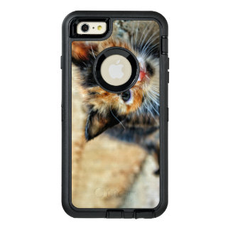 Sweet Kitty looking at YOU OtterBox Defender iPhone Case