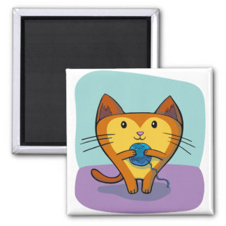 Sweet Kitty Square Magnet