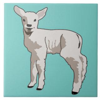 Sweet Lamb Ceramic Tile