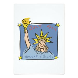 "Sweet Liberty 5"" X 7"" Invitation Card"