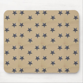Sweet Liberty Stars Navy Tan Mousepad