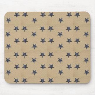 Sweet Liberty Stars Navy Tan Mousepad