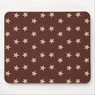 Sweet Liberty Stars Tan Mousepad