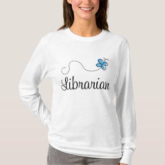 Sweet Librarian Butterfly Womens Tee Shirt