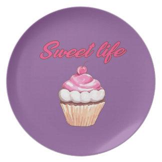 Sweet life dinner plate