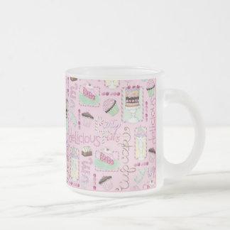 sweet life frosted glass coffee mug