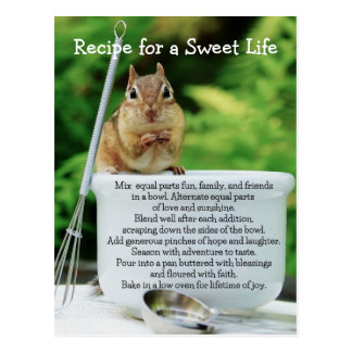 Sweet Life Little Chipmunk Postcard
