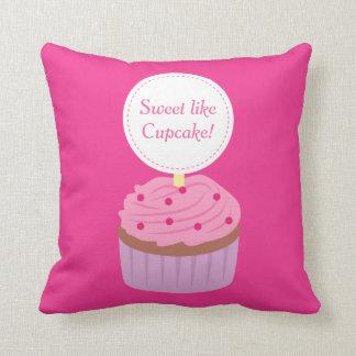 Sweet like Cupcake, Pink, For Girls Throw Pillow