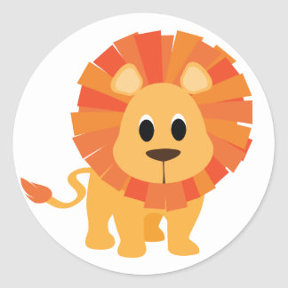 Sweet Lion Classic Round Sticker