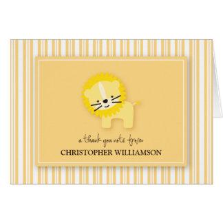 Sweet Lion Kids Thank-You Card (lemon)