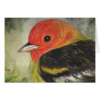 Sweet Little Bird Watercolor Card