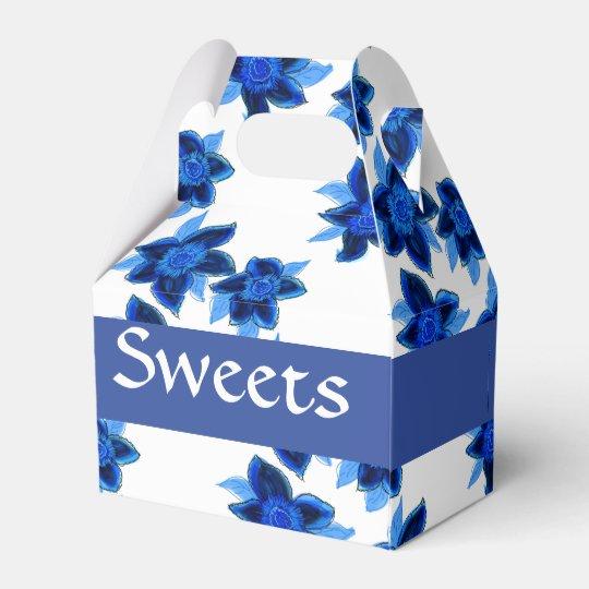 Sweet Little Blue Flowered Box