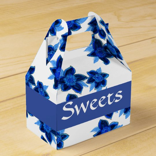 Sweet Little Blue Flowered Box Favor Boxes