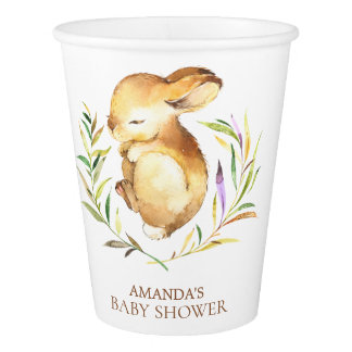 Sweet Little Bunny Baby Shower Paper Cup