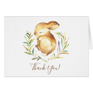 Sweet Little Bunny Baby Shower Thank You Note Card