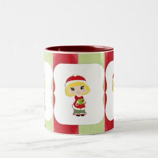 Sweet Little Caroler Two-Tone Coffee Mug