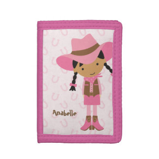 Sweet Little Cowgirl Tri-fold Wallets