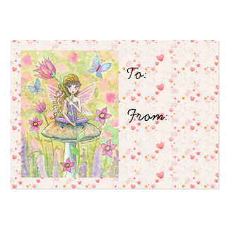 Sweet Little Fairy and Hearts Gift Tags Business Cards