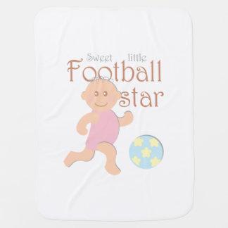 Sweet little football star baby blanket