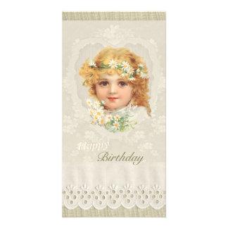 Sweet little girl CC0135 Ellen Clapsaddle Birthday Customized Photo Card