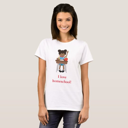 Sweet little girl says I love homeschool T-Shirt