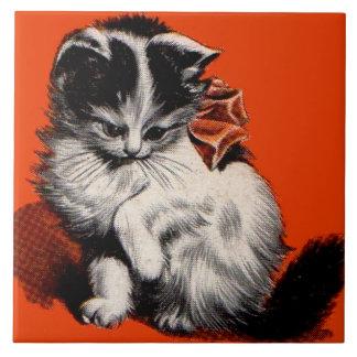 sweet little kitten tile