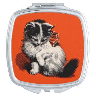 sweet little kitten travel mirror