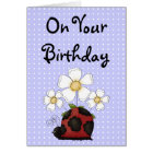 Sweet Little Ladybug Birthday Philippians 4:8 Card