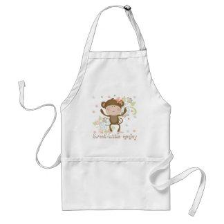 Sweet Little Monkey Standard Apron