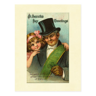 Sweet Little Shamrock St. Patrick's Postcard
