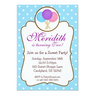 Sweet Lollipop Birthday Party Invitation