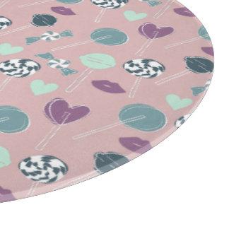 Sweet Lollipop Candy Pattern Cutting Board
