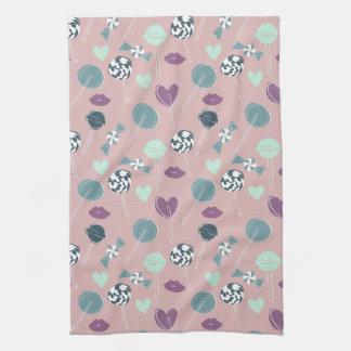 Sweet Lollipop Candy Pattern Kitchen Towel