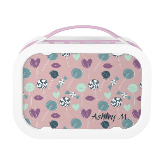 Sweet Lollipop Candy Pattern Lunch Box