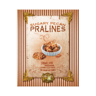 Sweet Louisiana Pecan Pralines Canvas Print